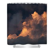 Storm Cloud Highlighted By Sun Shower Curtain