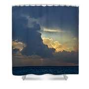 Storm Clouds At Sunset Over Lake Michigan Shower Curtain