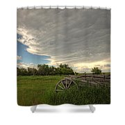 Storm Clouds Gather Over An Abandoned Shower Curtain