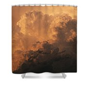 Storm Clouds Gather Over The Badlands Shower Curtain