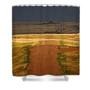 Storm Clouds In Saskatchewan Shower Curtain by Mark Duffy