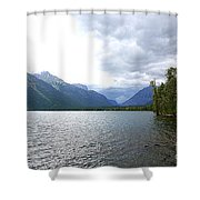 Storm Clouds Over Lake Mcdonald Shower Curtain