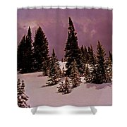 Storm Clouds Over The Monte Cristo Summit Shower Curtain