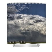 Storm Clouds Thunderhead Shower Curtain by Mark Duffy