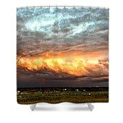 Storm Glow Shower Curtain