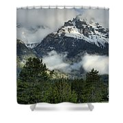 Storm  In The Tetons Shower Curtain