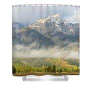 Storm On Grand Teton Shower Curtain