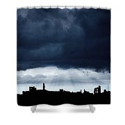 Storm Over City, Tyne And Wear, England Shower Curtain