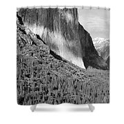 Storm Over El Capitan Shower Curtain