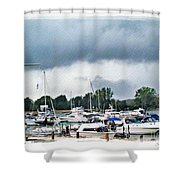 Storm Over Lake Erie Shower Curtain