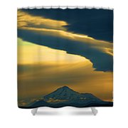 Storm Over Shasta Shower Curtain