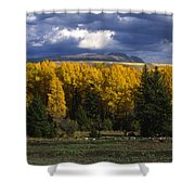 Storm Over Sleeping Indian-grand Tetons Shower Curtain
