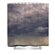 Storm Over The Mesa Shower Curtain