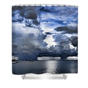 Storm Over The Ocean Shower Curtain