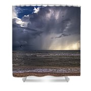 Storm Rider Shower Curtain by Nick  Shirghio