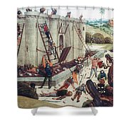 Storming Of Castle Shower Curtain by Granger