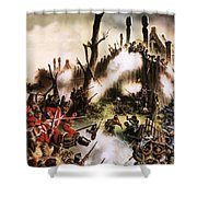 Storming Of Maori Fort  Shower Curtain