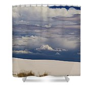 Storm's Contrast With White Sand Shower Curtain