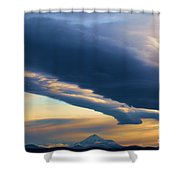 Storms Over Shasta Shower Curtain