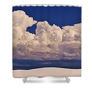 Storms Over The Mountains Shower Curtain