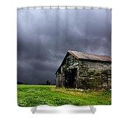Stormy Barn Shower Curtain