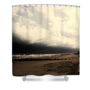 Stormy Beach At The Coast Of South Carolina Shower Curtain