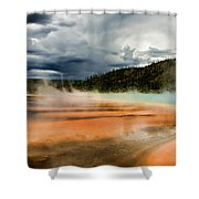 Stormy Grand Prismatic Spring Shower Curtain