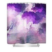 Stormy Purple Shower Curtain