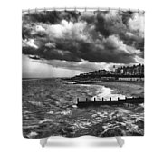 Stormy Southwold Shower Curtain