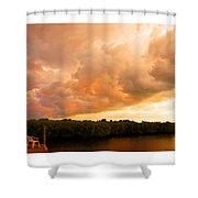 Stormy Sundowner Shower Curtain