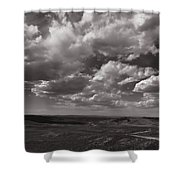 Stormy Wyoming Sky Shower Curtain