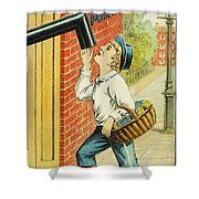 Stove Polish Trade Card Shower Curtain by Granger
