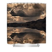 Strange Clouds Reflected Shower Curtain