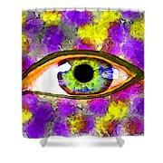 Strange Eye II Shower Curtain