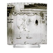 The Surreal Skeleton  Shower Curtain