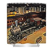 Strasburg Railroad Museum Shower Curtain