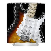 Classic Guitar Abstract 2 Shower Curtain