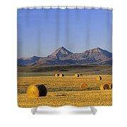 Straw Bales, Pincher Creek, Alberta Shower Curtain