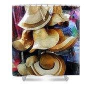 Straw Hats Shower Curtain