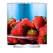 Strawberries In A Plastic Sale Box  Shower Curtain