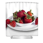 Strawberries In A White Bowl No.0029v1 Shower Curtain