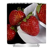 Strawberry Arrangement With A White Bowl No.0036 Shower Curtain