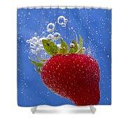 Strawberry Soda Dunk 3 Shower Curtain by John Brueske