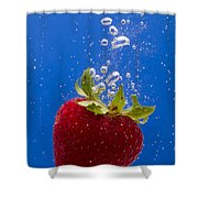 Strawberry Soda Dunk 5 Shower Curtain by John Brueske