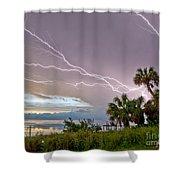 Streak Lightning Shower Curtain