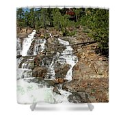 Streaming Glen Alpine Falls Shower Curtain