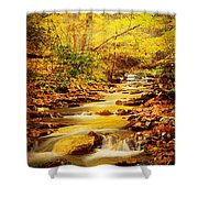 Streams Of Gold Shower Curtain