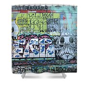 Street Graffiti - Tubs Let Loose Shower Curtain