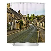 Street In Castle Combe Shower Curtain