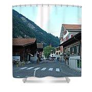 Street In Interlaken In Switzerland Shower Curtain